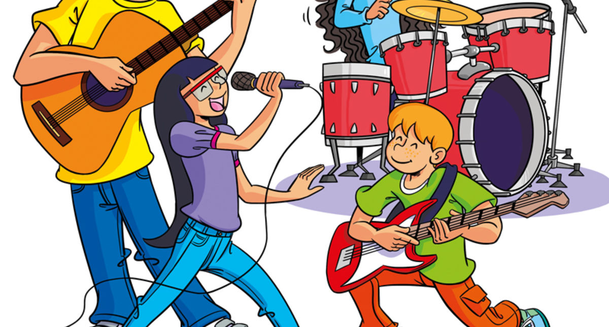 Children S Illustrations Cartoon Illustration Textbook Illustration Coursebook Illustration Music Familiy