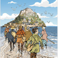 Color cover for comic strip about Mont Saint Michel