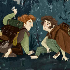 Frodo Y Sam And The Passing Of The Elves