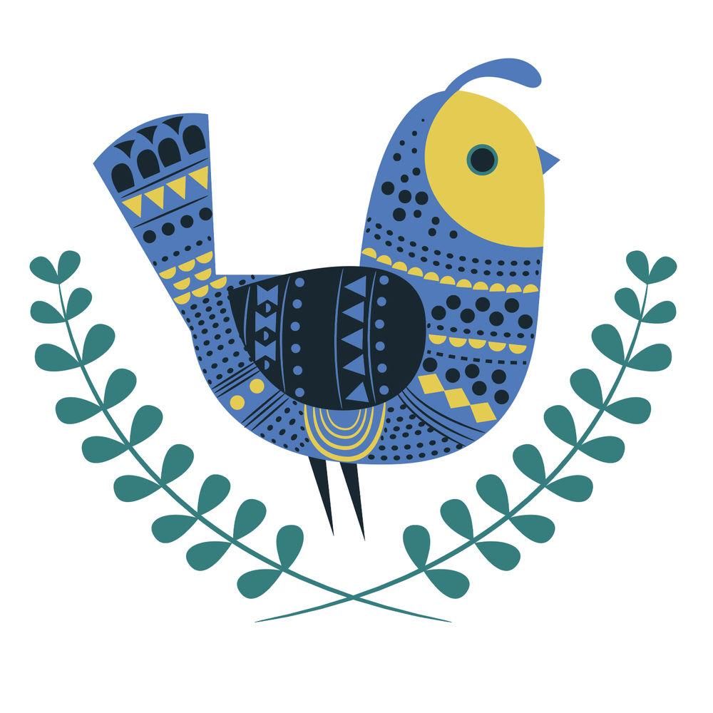 Graphic bird design