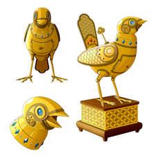 """Clockwork bird from Andersen's tale """"The Nightingale"""""""