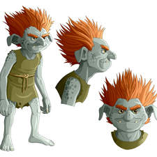 "Goblin from Andersen's tale ""The Steadfast Tin Soldier"""
