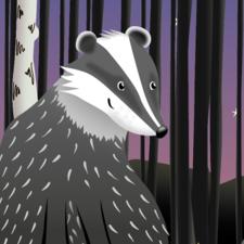 Badger Forest Scene