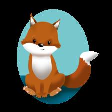 Cute fox card design