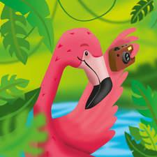 Flamingo on holiday