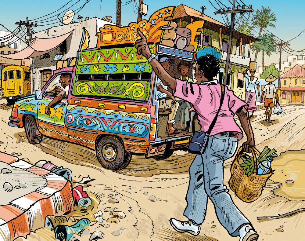 Color illustration for a graphic novel