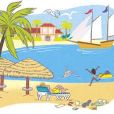 Children S Illustrations Cartoon Illustration Textbook Illustration  Landscape Illustration Caribbean Beach