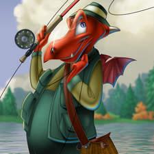 A Dragon Fly Fisherman