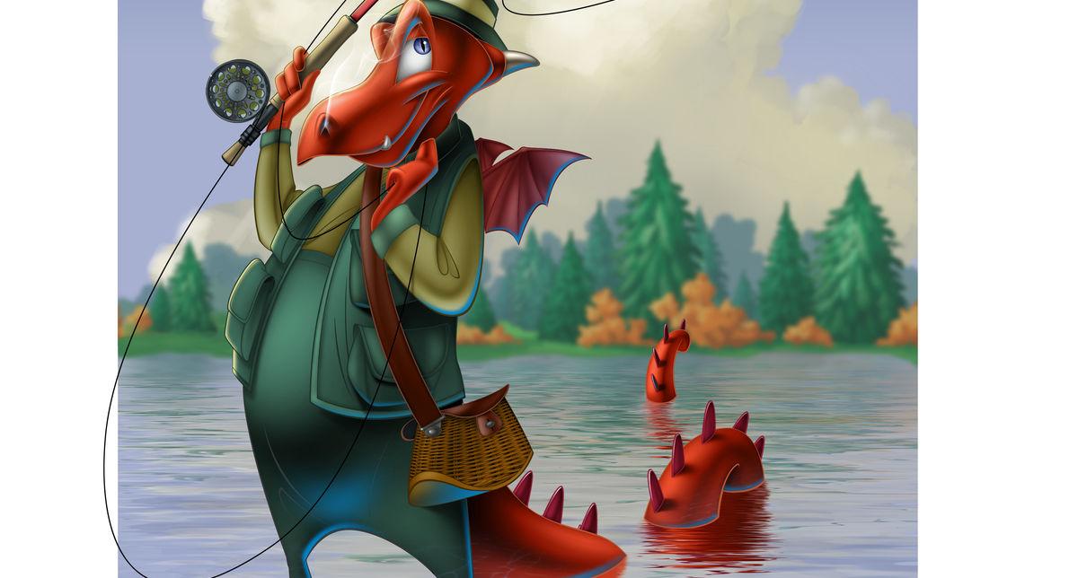 Dragon Fly Fisherman