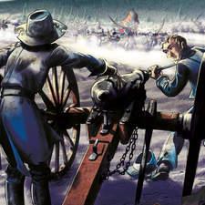 Illustration Historic Illustration Jhon Cook American Civil War Illustration Belmonte Art Artilleros   Gunners