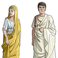 Various people from the roman age