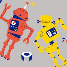 Robot Dance gift wrap