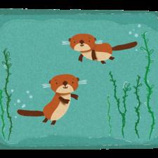 Otter pattern design - otterly inlove