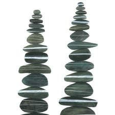 Stone Stacks I Ilowres