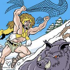 Fourth labour of Hercules: the Erymanthian boar