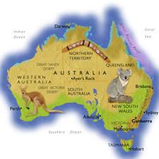Australia Editable Text