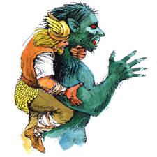 Norse legend, Beowulf fights Grendel