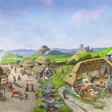 A settlement in feudal France
