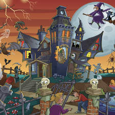 Haunted house - Junior spot the difference Jigsaw.