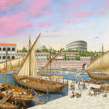 A port in ancient Constantinople