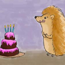 Birthday Celebration Hedgehog