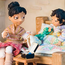"""Morning scene from """"The Best Thing"""", featuring the patchwork quilt."""