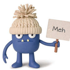 """""""Meh"""" from Oddbods card range published by Best of Wishes"""
