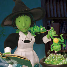 """Griselda and Holly in the cauldron room, from """"Holly and Boo"""""""