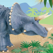 Triceratops model from Usborne's First Picture Dinosaurs.