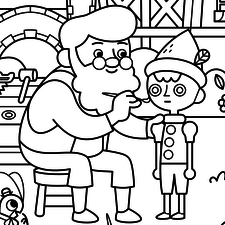 Roll-O-Rama Fairy Tales colouring pages - Yoyo