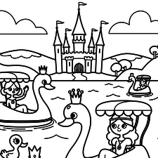Roll-O-Rama Princesses colouring pages - Yoyo