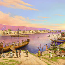 A port in Thebes