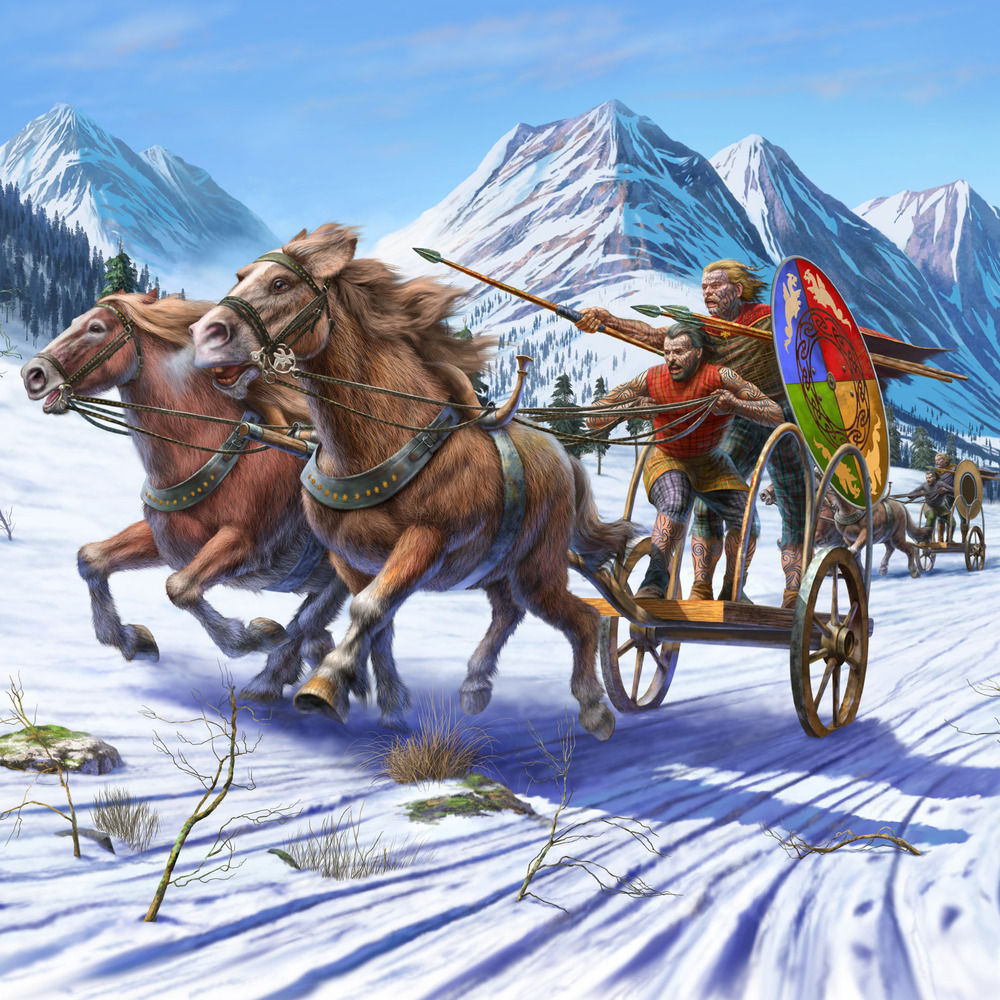 Winter chariot race