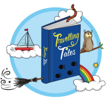 Travelling tales Logo and design for tote bag