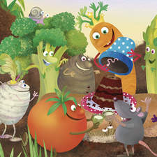 Vegetable birthday party!