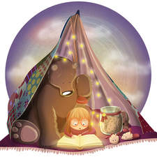 A reading tent for best friends.