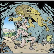 First labour of Hercules: the Nemean lion