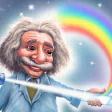 Cartoon of Albert Einstein