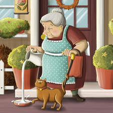 Granny and her cat. Sweet things happen on each single day.