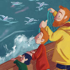 Illustration from The Boy and the Boat