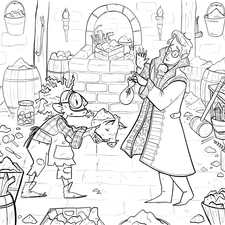 A colouring book page for Critical Coloring