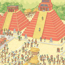 Mighty Mayan city.