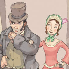 Bill and Nancy. Illustration from Oliver Twist.