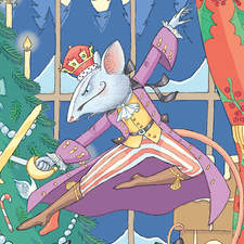 The Nutcracker. Detail of an Illustration for a 1 metre tall luxury Christmas cracker.