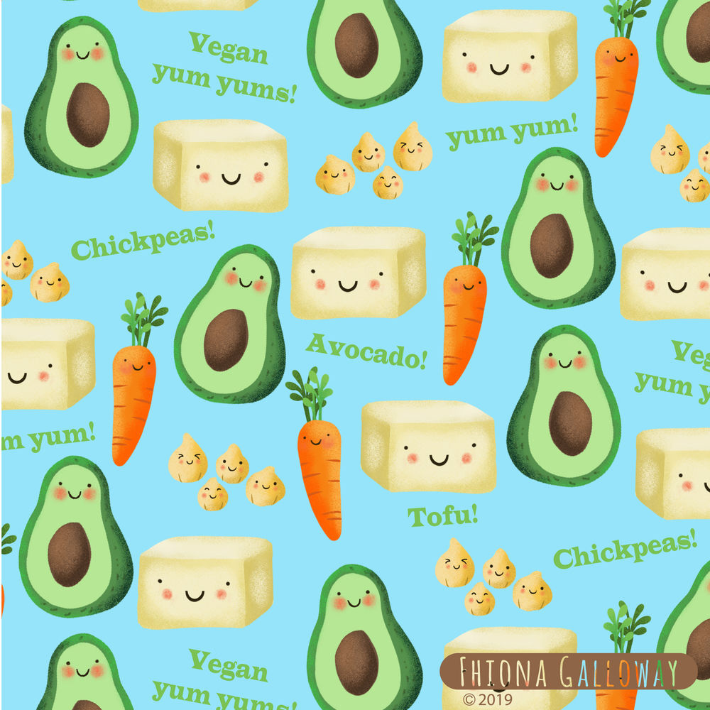 Vegan food pattern