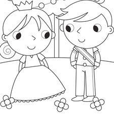 Prince and Princess Colouring Book