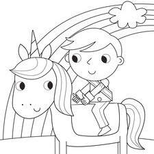 Prince and Unicorn Colouring Book