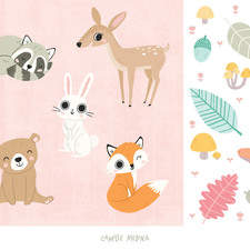 Icon sheet inspired by woodland animals and autumn (personal work)