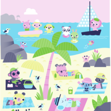 Self initiated illustration of beach scene