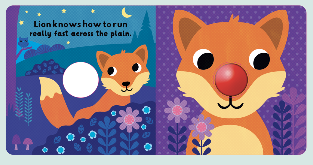 Spread for book containing squeaky nose